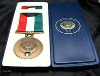 IRAQ Saddam Hussien Gulf War USA KUWAIT Liberation Medal Desert Storm in Box