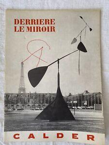 CALDER / DERRIERE LE MIROIR n°113 MAEGHT 1959