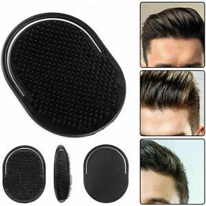 Black Pocket Travel Hair Comb Brush Men Beard Mustache Palm Scalp Massage New