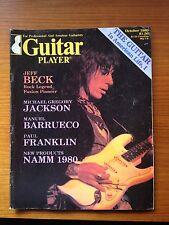 Guitar Player Magazine October 1980 Jeff Beck, Michael Gregory Jackson NAMM 1980