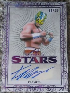 Flamita Purple Parallel Auto 16/25 2020 Leaf Ultimate Stars Wrestling #US-FL1