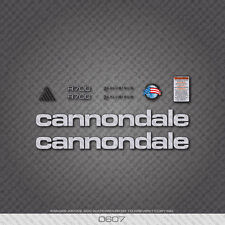 0607 Silver Cannondale R700 Bicycle Stickers - Decals - Transfers