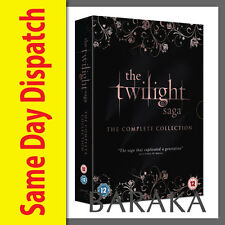 The Twilight Saga Complete DVD box set New Moon Eclipse Breaking Dawn Part 1 & 2