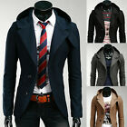 Mens Casual Hooded Hoodies Dress Slim Fit Suit Blazer Jackets Coats Tops 4color