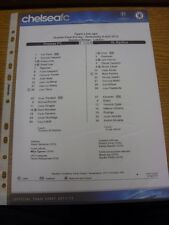04/04/2012 Colour Teamsheet: Chelsea v Benfica [Champions league] (Official Chel