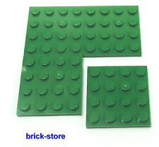 LEGO / 4x4 Plaques Vert / 4 pièces