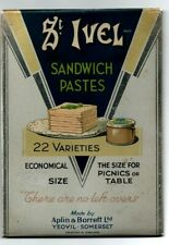 Vintage 50's St Ivel Sandwich Paste sign - Hanging or Standee - Tin over card -
