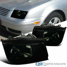 For VW 99-05 Jetta Bora Mk4 Black Smoke Headlights w/o Built-in Fog Left+Right