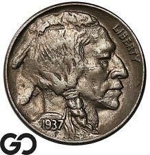 New Listing1937-D Buffalo Nickel, 3-Legged, Avidly Pursued Choice Au+ Key Date Mint Error!