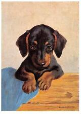 "vintage blank greeting cards Ars Sacra: artist Schönermark""dog&#03 4;3657"""