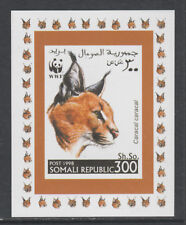 Somalia 5734 - 1998 WWF - CARACAL LYNX #3  imperf deluxe sheet unmounted mint