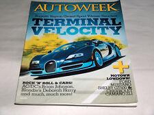 autoweek 2012 Car Truck REVISTAS Bugatti Veyron Grand Sport terminal velocity