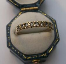 Women's 9ct Gold Quality CZ Half Eternity Ring Hallmarked Size O Weight 1.7g