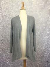 Eileen Fisher Open Cardigan Sweater Size M Blue Cotton Blend 3/4 Sleeve
