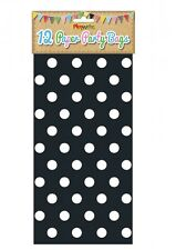 Bulk Wholesale Job Lot 288 Black Polka Dot Paper Party Bags