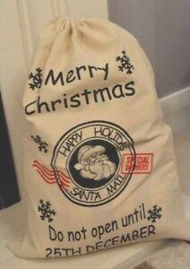 Christmas Santa Sacks - Merry Christmas - Do Not Open Before 25th free p & p