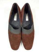 Munro American Womens Brown Suede Block Heel Slip On Loafer Size 11 M