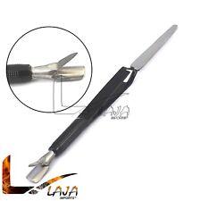Magic Wand Pusher Multi-Functional C-curve Pinching Tool Nail Art Pincher Black