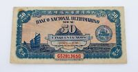1946 Banco Nacional Ultramarino Macau 50 Avos Note Pick #38 Very Fine Condition