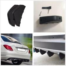 3 Pcs Car Rear Bumper Decor Anti-collision Diffuser Molding Point Garnish Black