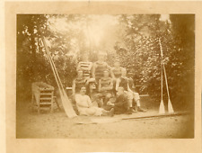 Rameurs, vers 1900 Vintage albumen print Tirage albuminé  16x20  C