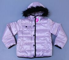 The Children's Place Girl's Faux Fur Contrast Puffer Jacket ML3 Pink Small (5/6)