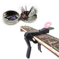 Guitar Capo with Pick Holder Design & Alice Guitar Picks Case with 12 Plectrums