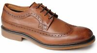 Mens Leather Formal Shoes Lace Up Brogues Smart Office Suit Casual Size