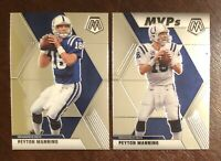 2020 Mosaic Peyton Manning MVP's & Base Card Colts Lot Of 2