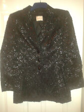 Womens Smart Jacket / Blazer - Betty Barclay - Black With Silver Sparkle - 10 GB
