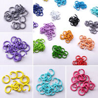 100pcs 8mm Jump Ring Split Ring Connector For Jewelry Finding Making Accessories