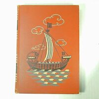 VTG 1949 Childcraft Book Vol 6 Great Men and Famous Deeds Orange Hardcover