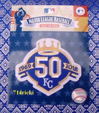 Official MLB 2018 Kansas City Royals 50th Anniversary Collectible Patch