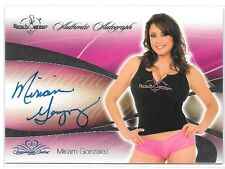 Miriam Gonzalez signed 2009 Benchwarmer Signature Edition trading card #32