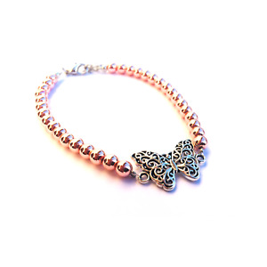 *NEW* Rose Hematite Handmade Bracelets With Butterfly Detail