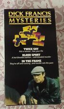 DICK FRANCIS MYSTERIES - VHS TAPES - TWICE SHY, IN THE FRAME AND BLOOD SPORT NR