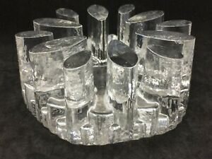 German Clear Glass Trivet Warmer Stand Glasdesign Georgshutte
