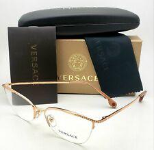 New VERSACE Eyeglasses Mod. 1261-B 1412 54-17 140 Gold Frames Swarovski Crystals