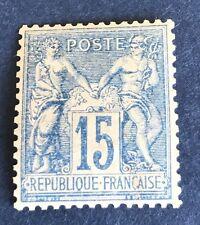 France N° 90 15 C Bleu Neuf** Centrage Parfait Cote 60€ +50 %