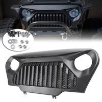 For 97-06 Jeep Wrangler TJ Front Black/Matte Black Gladiator Grill Grille w/Mesh