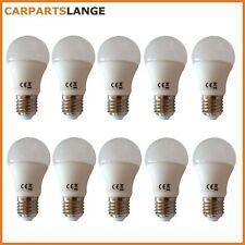 10x LED Glühlampe Leuchtmittel 5W kaltweiss Kugel Milchglas 360lm EEK A+ NEU