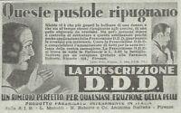 Y3440 Prescrizione D.D.D. - Pubblicità d'epoca - 1935 vintage advertising
