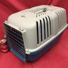 """LARGE Plastic Carrier Box 21 x 13"""" Small Dogs Puppy Home Vets Transport Carrying"""
