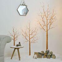 2FT 4FT 6FT INDOOR HOME COPPER CHRISTMAS WEDDING TREE DECORATION LED LAMP LIGHT