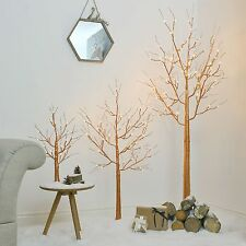 LED Light Up Pre Lit Copper Twig Tree Decoration   Christmas Indoor Home Nordic