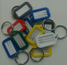 Key Rings with Identitabs x10