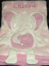 Elefante personalizzato Baby Coperta in Pile Morbido Carino Rosa Effetto 3D Ragazza Regalo