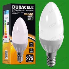 3.7W à variation Duracell LED Perle Bougie Allumage Instantané ampoule SES E14