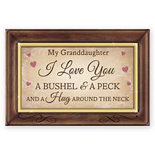 Bradford Exchange Granddaughter, I Love You A Bushel And A Peck Music Box