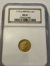 More details for 1718 g.britain george i gold 1/4 guinea ngc ms61